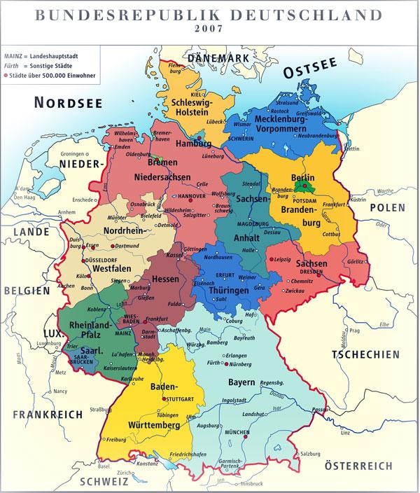 Deutschland Karte : Deutsch-Werden.de