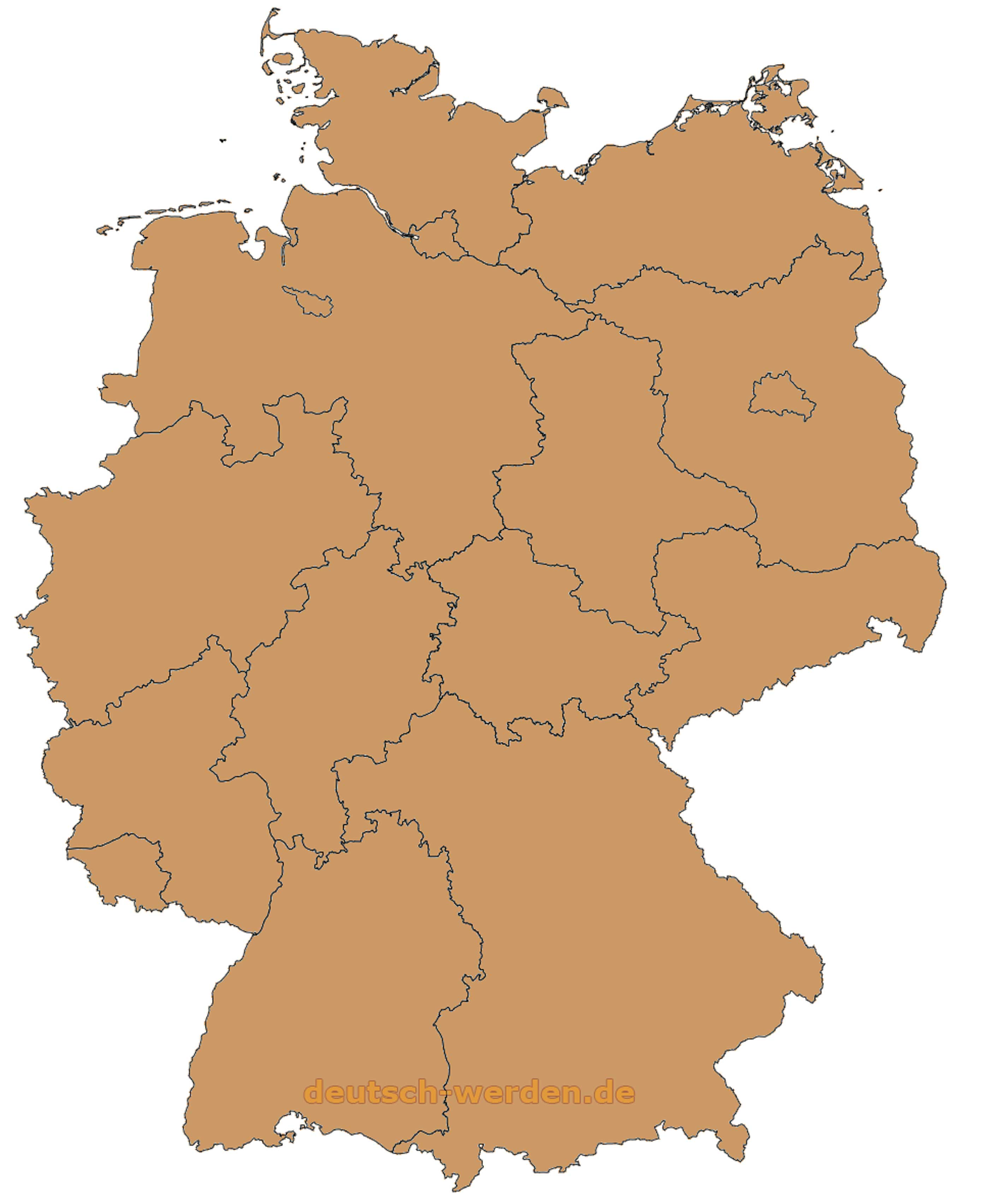Deutschland Karte Mit Ohne Bundeslander Leere Karten