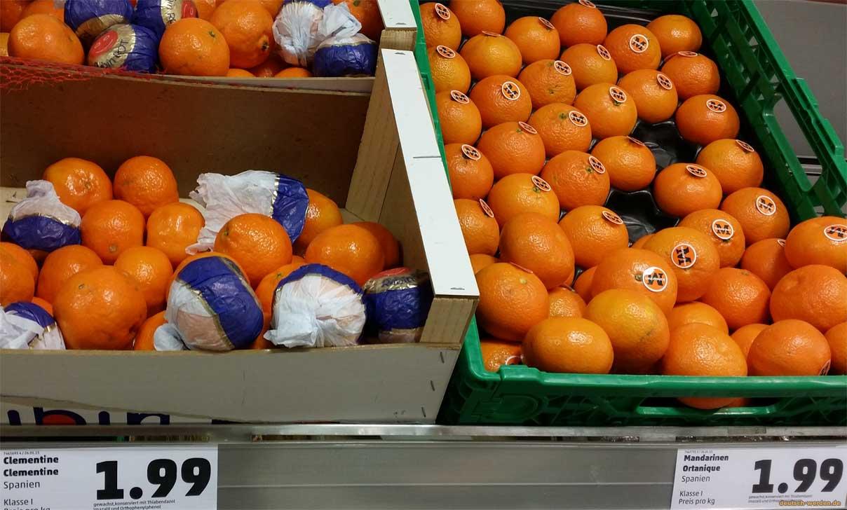 Unterschied Mandarinen Clementinen