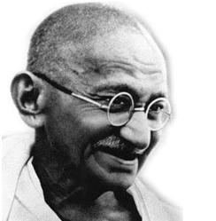 Mahatma Gandhi als alter Mann