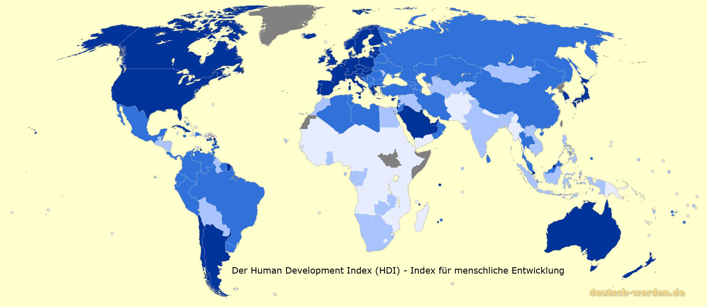 die rangliste von dem human - Entwicklungslander Beispiele