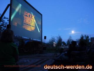KULTURFABRIK Moabit, Berlin - Open Air Kino Leinwand