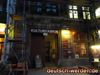KULTURFABRIK Moabit, Berlin - Open Air Kino Eingang