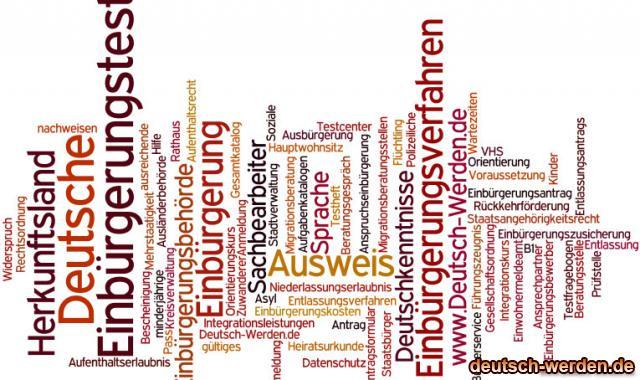 Einbürgerung - Integration mit Tagcloud - 2