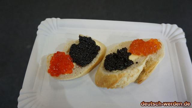 Kaviar (schwarz & rot) mit Brot und Butter