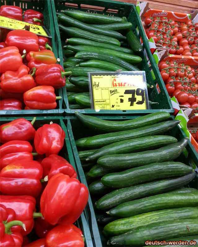 B Ware Mittelmäßige Gurken für 79 Cent bei orientalischen Supermarkt