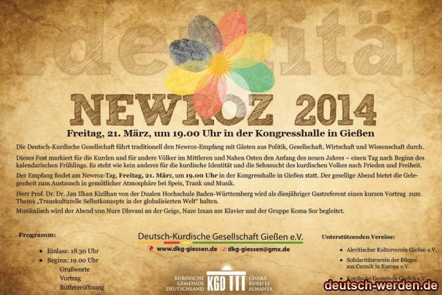 Kurdische Gemeinde Deutschland - Gießen Newroz 2014