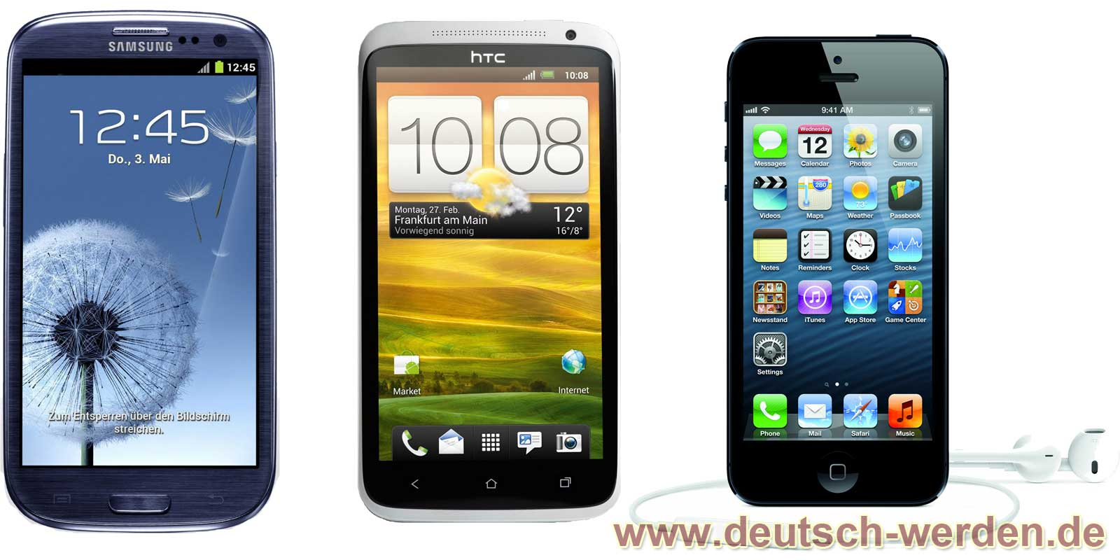 Samsung Galaxy S3 vs. HTC One X vs. Iphone 5
